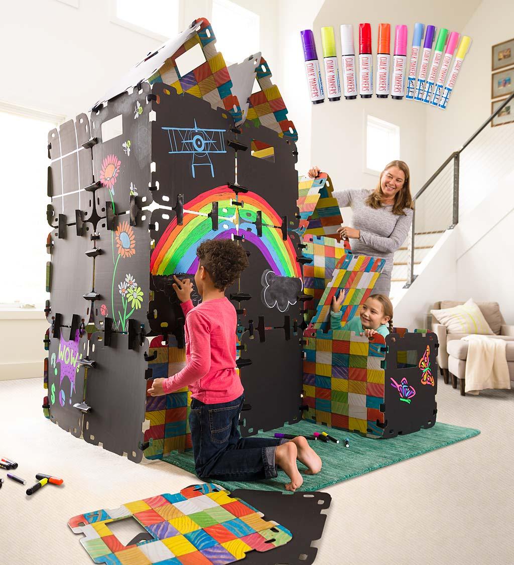 32-Piece Full Chalkboard Fantasy Fort™ Super Special