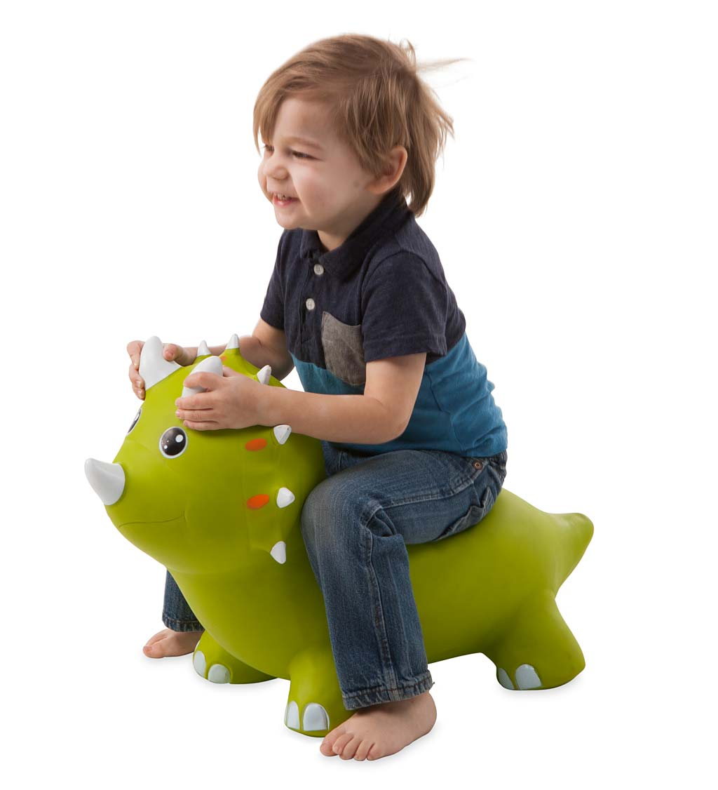 bouncy inflatable animal jump-along