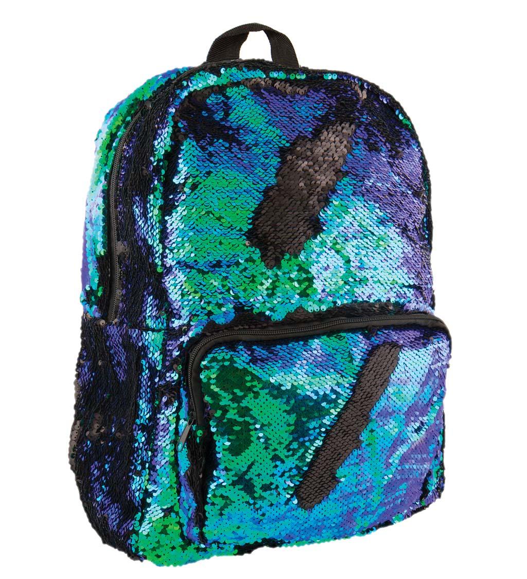 Mermaid/Black Sequin Backpack