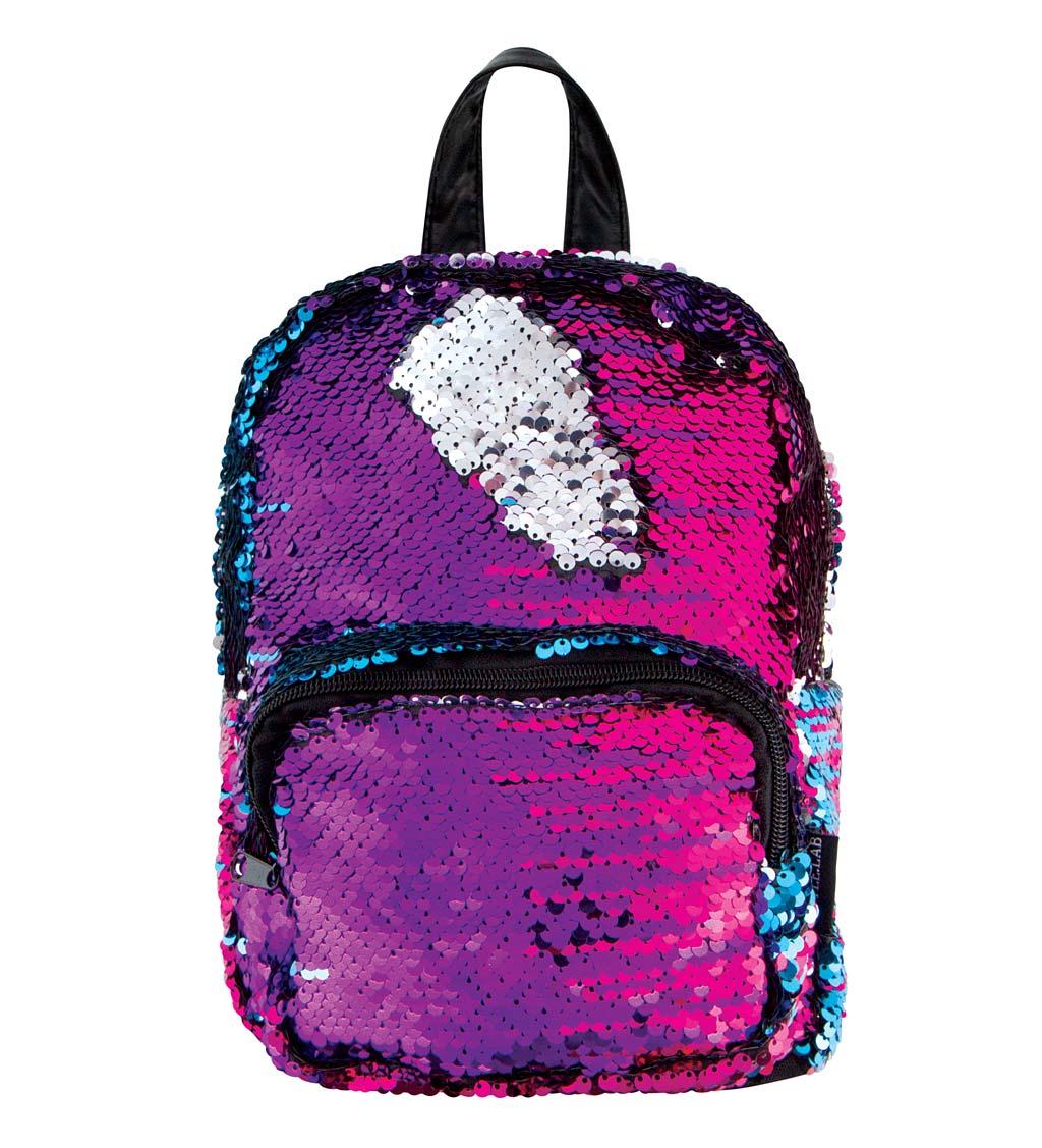 Multicolor/Silver Sequin Mini Backpack