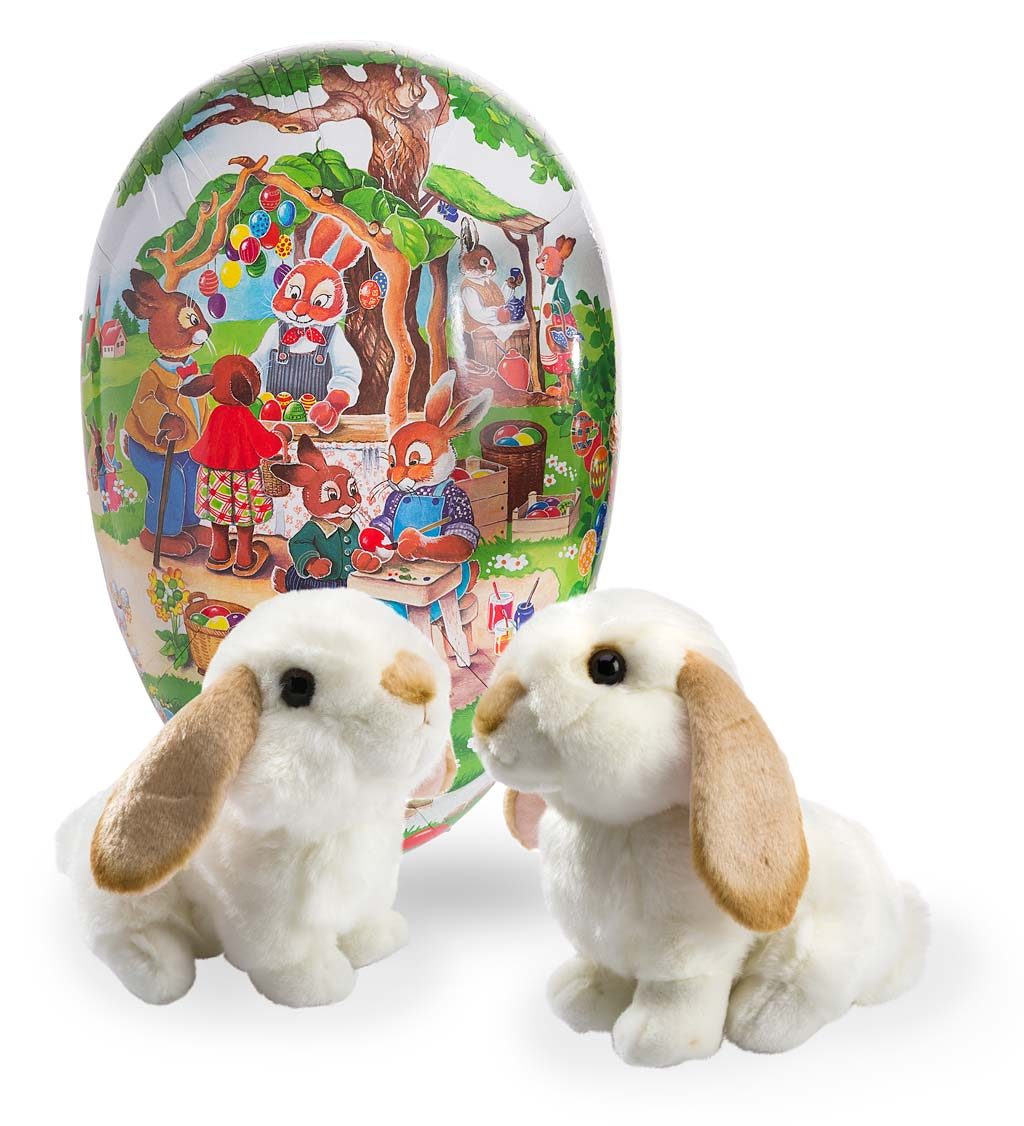 Easter Market Egg and Two Lop-Eared Rabbits Special