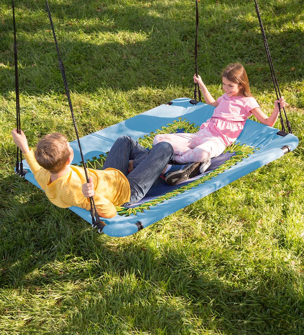 2-in-1 bungee hammock swing