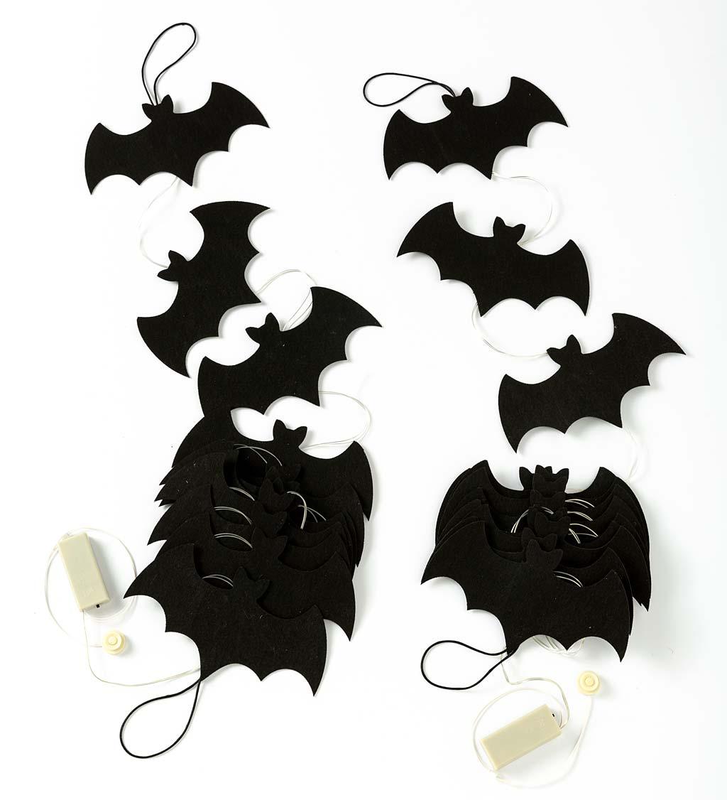 light up bat colony string lights, set of 2 strands
