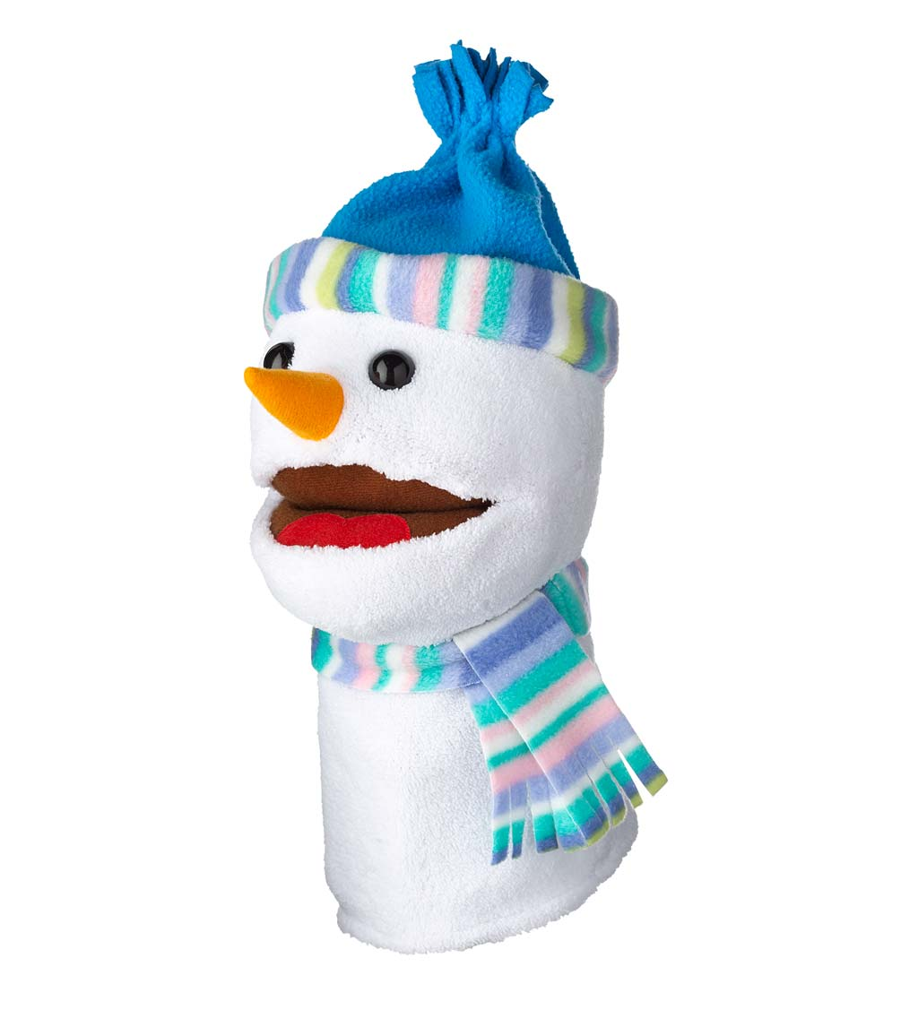 Singing Snowman Hand Puppet, Set of Two