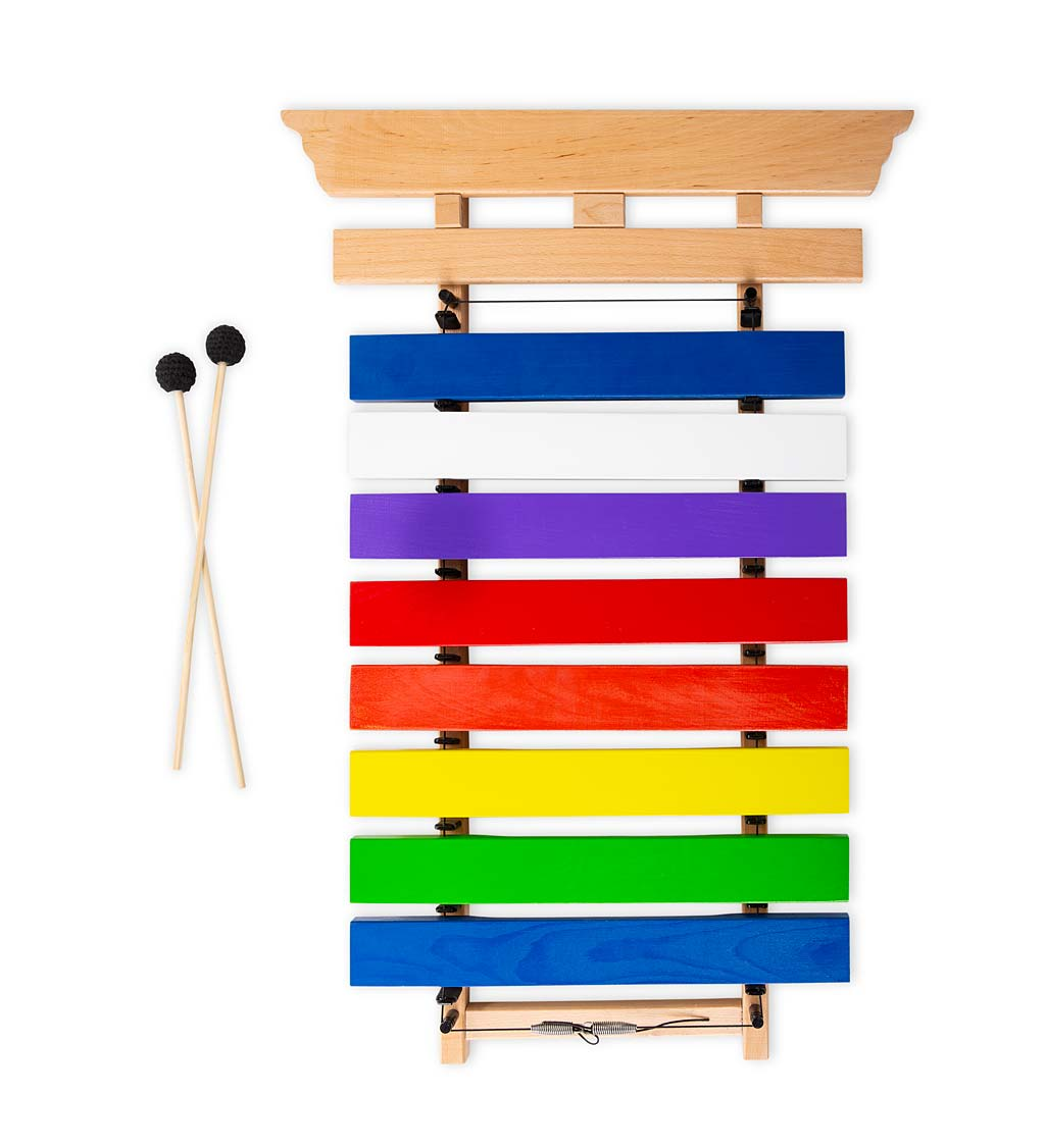 jumbo 3-foot colorful wooden chime xylophone