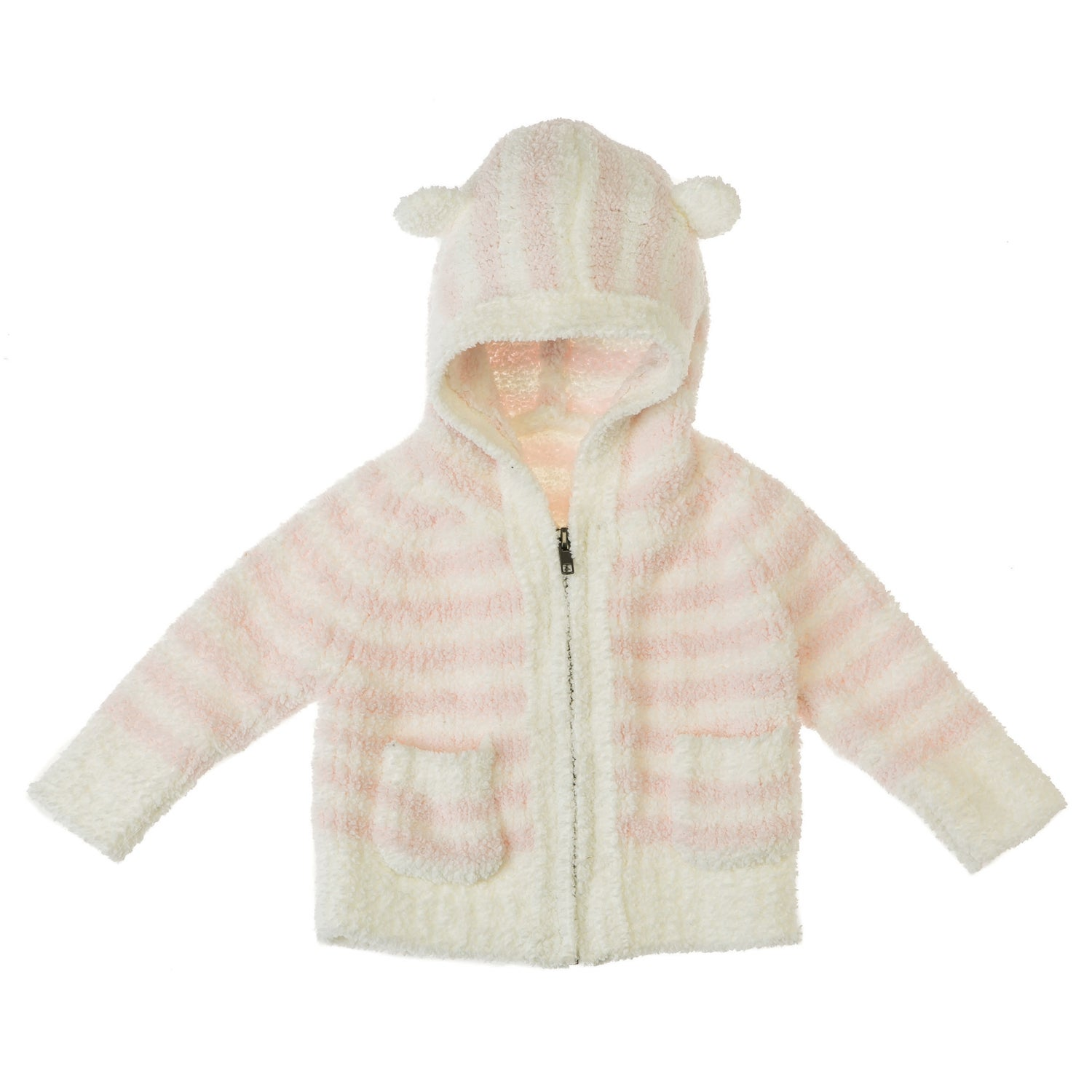 Vie Luxe Pink Striped Baby Hoodie
