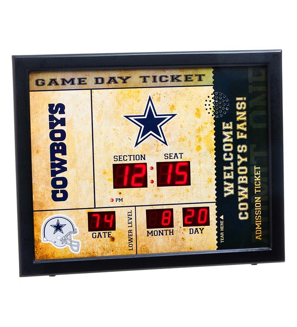 Dallas Cowboys Bluetooth Scoreboard Wall Clock