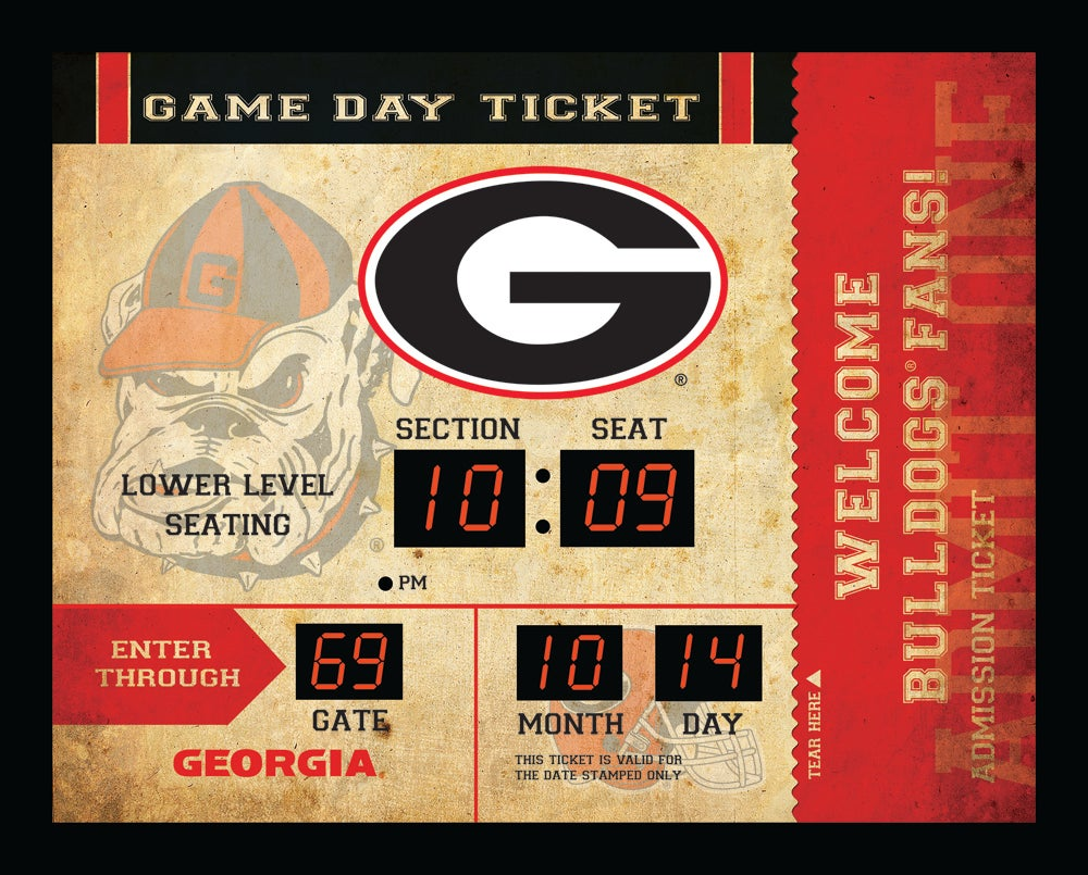 Georgia Bulldogs Bluetooth Scoreboard Wall Clock
