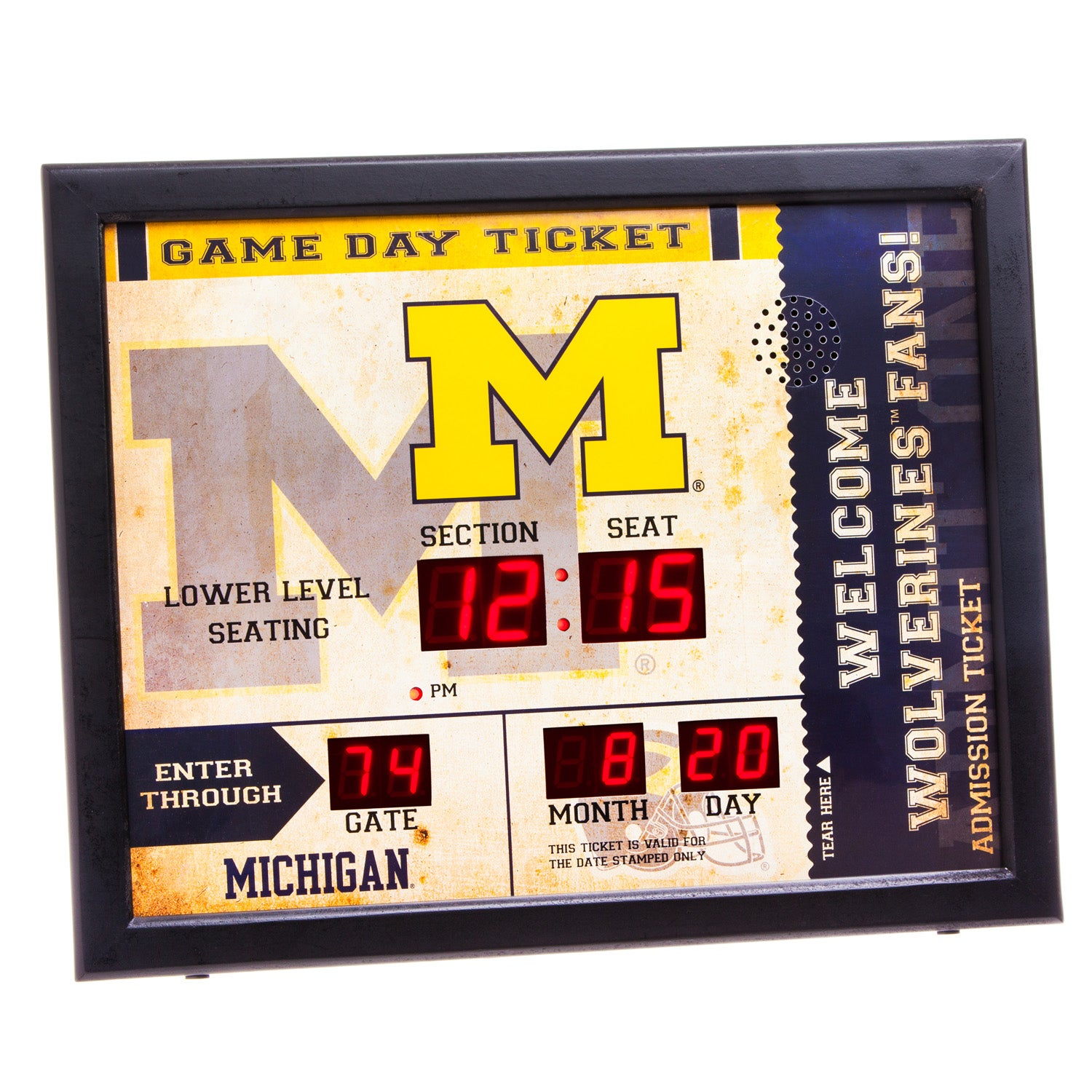 Michigan Wolverines Bluetooth Scoreboard Wall Clock