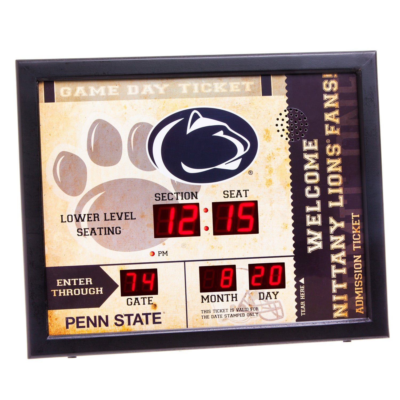 Penn State Nittany Lions Bluetooth Scoreboard Wall Clock