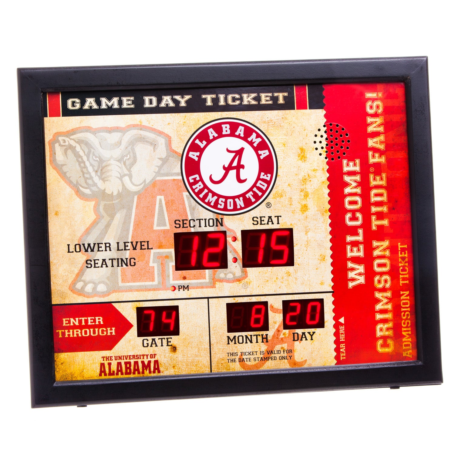 Alabama Crimson Tide Bluetooth Scoreboard Wall Clock