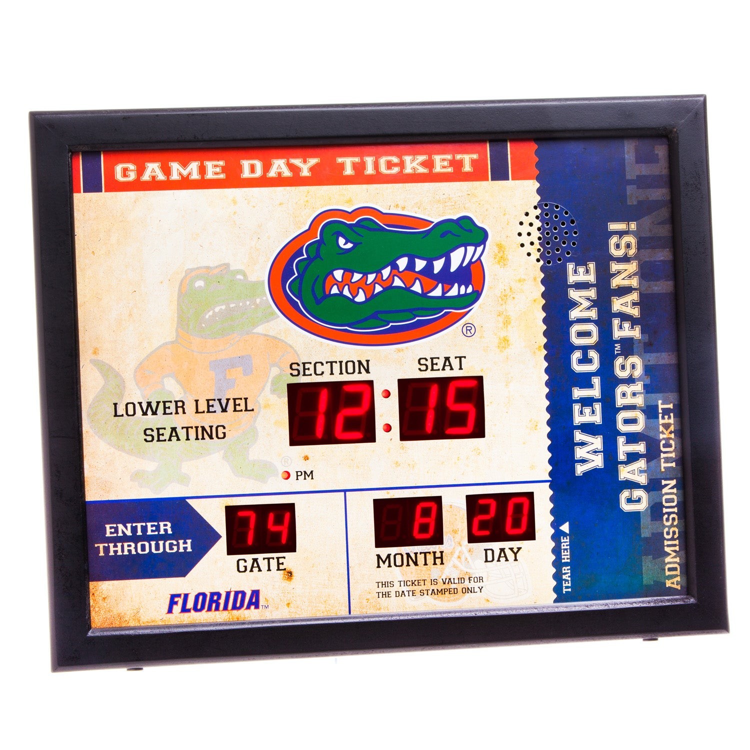 Florida Gators Bluetooth Scoreboard Wall Clock