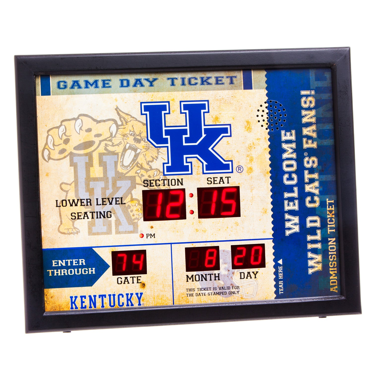 Kentucky Wildcats Bluetooth Scoreboard Wall Clock