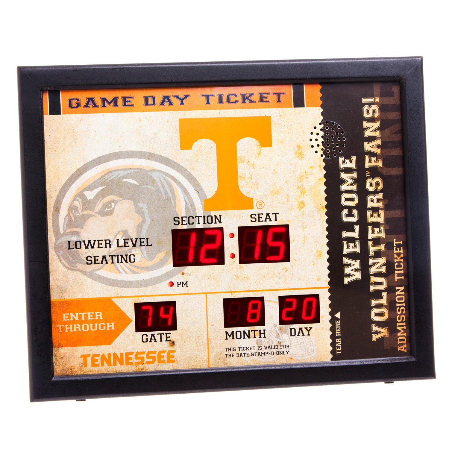 Tennessee Volunteers Bluetooth Scoreboard Wall Clock