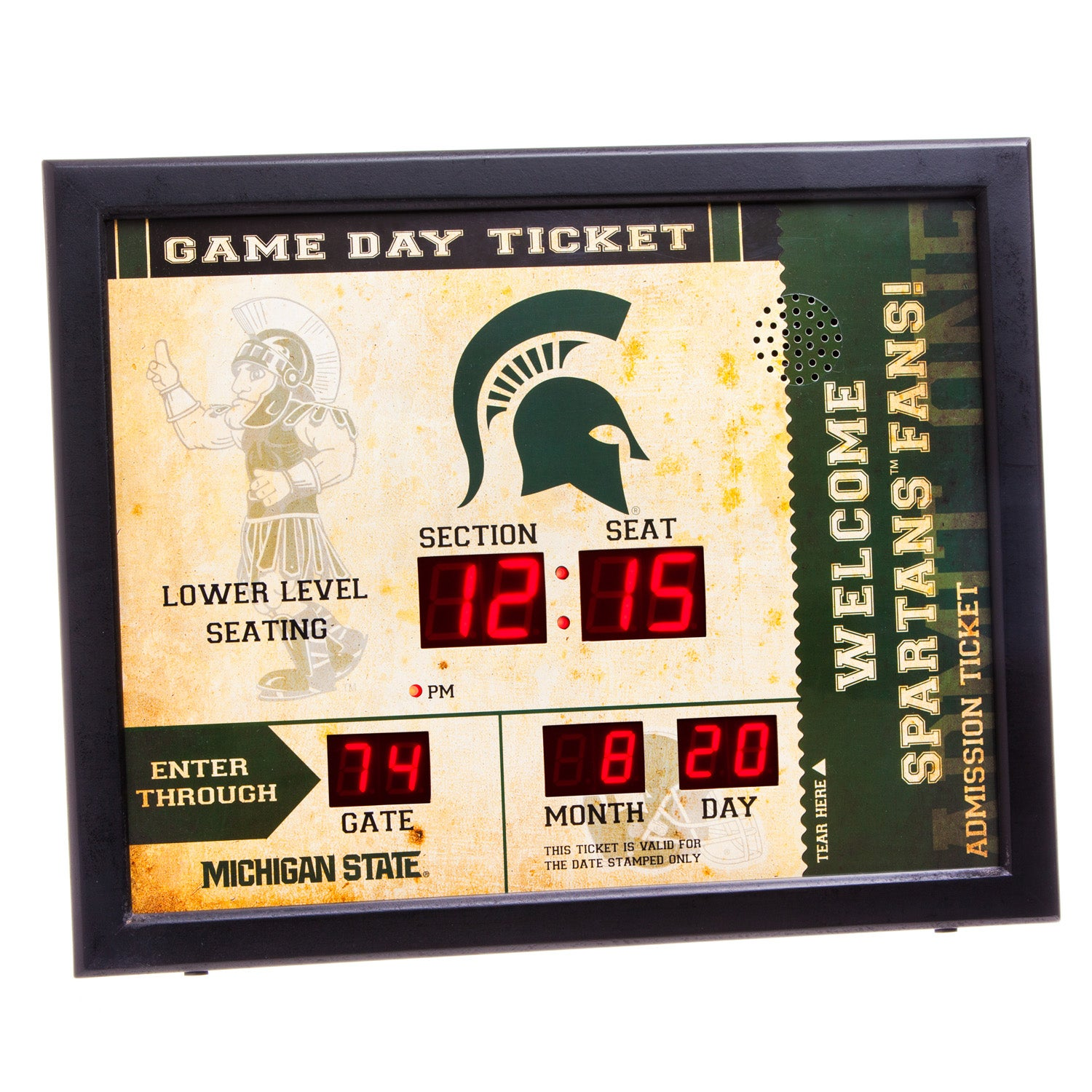 Michigan State Spartans Bluetooth Scoreboard Wall Clock