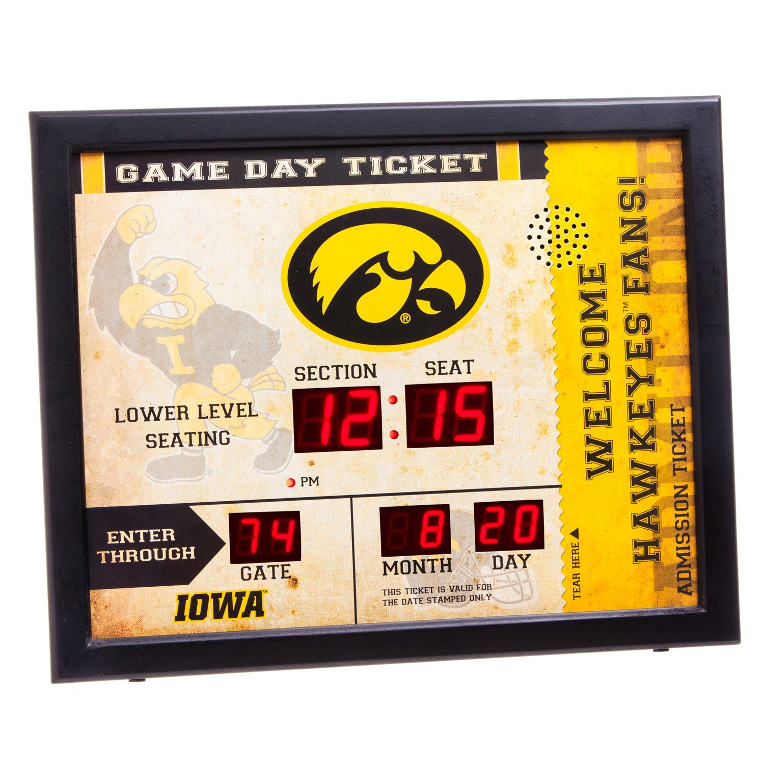 Iowa Hawkeyes Bluetooth Scoreboard Wall Clock