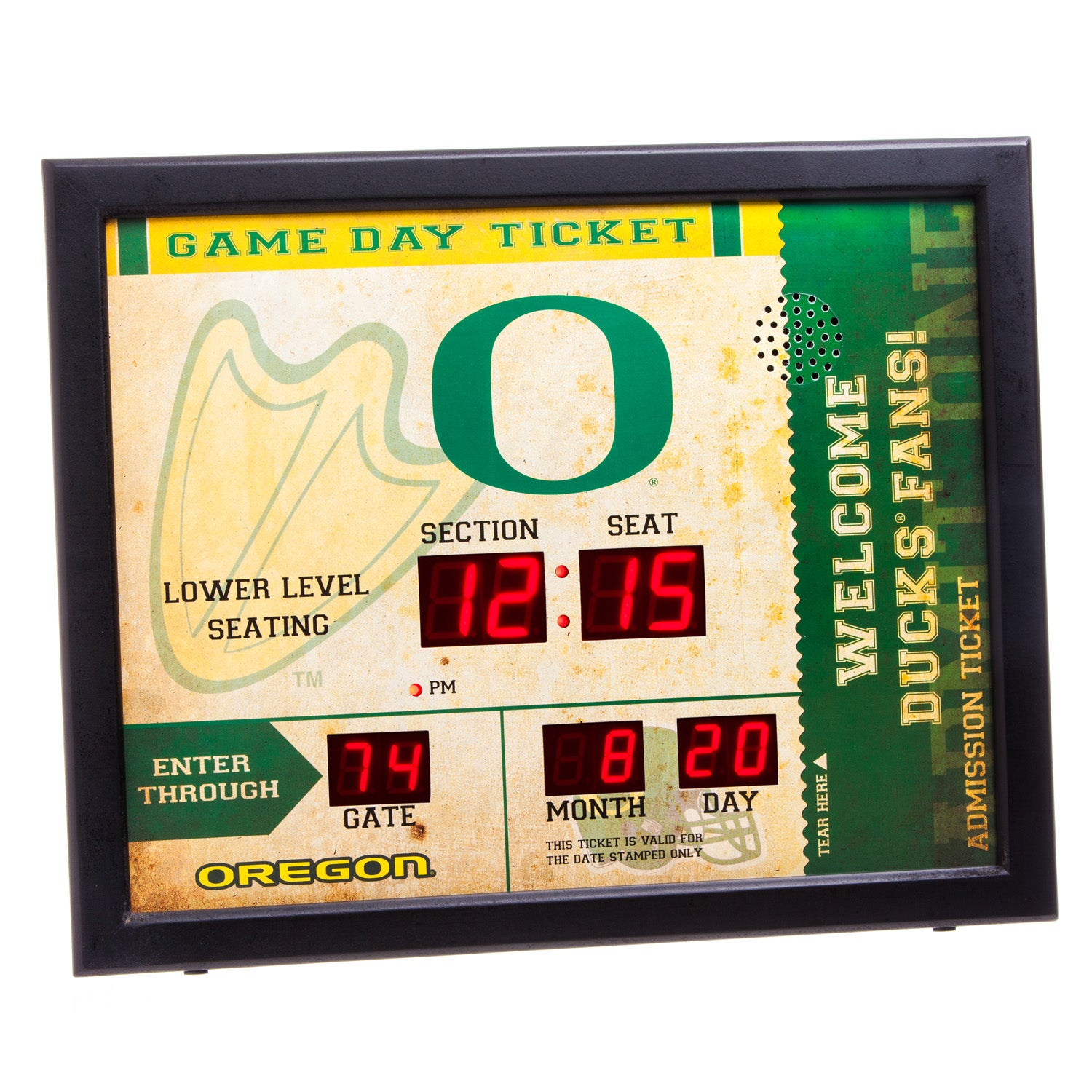 Oregon Ducks Bluetooth Scoreboard Wall Clock
