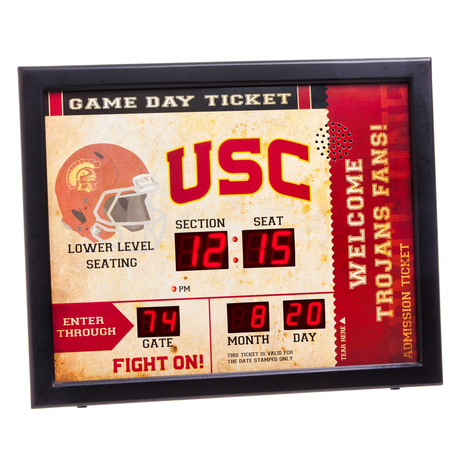 USC Trojans Bluetooth Scoreboard Wall Clock