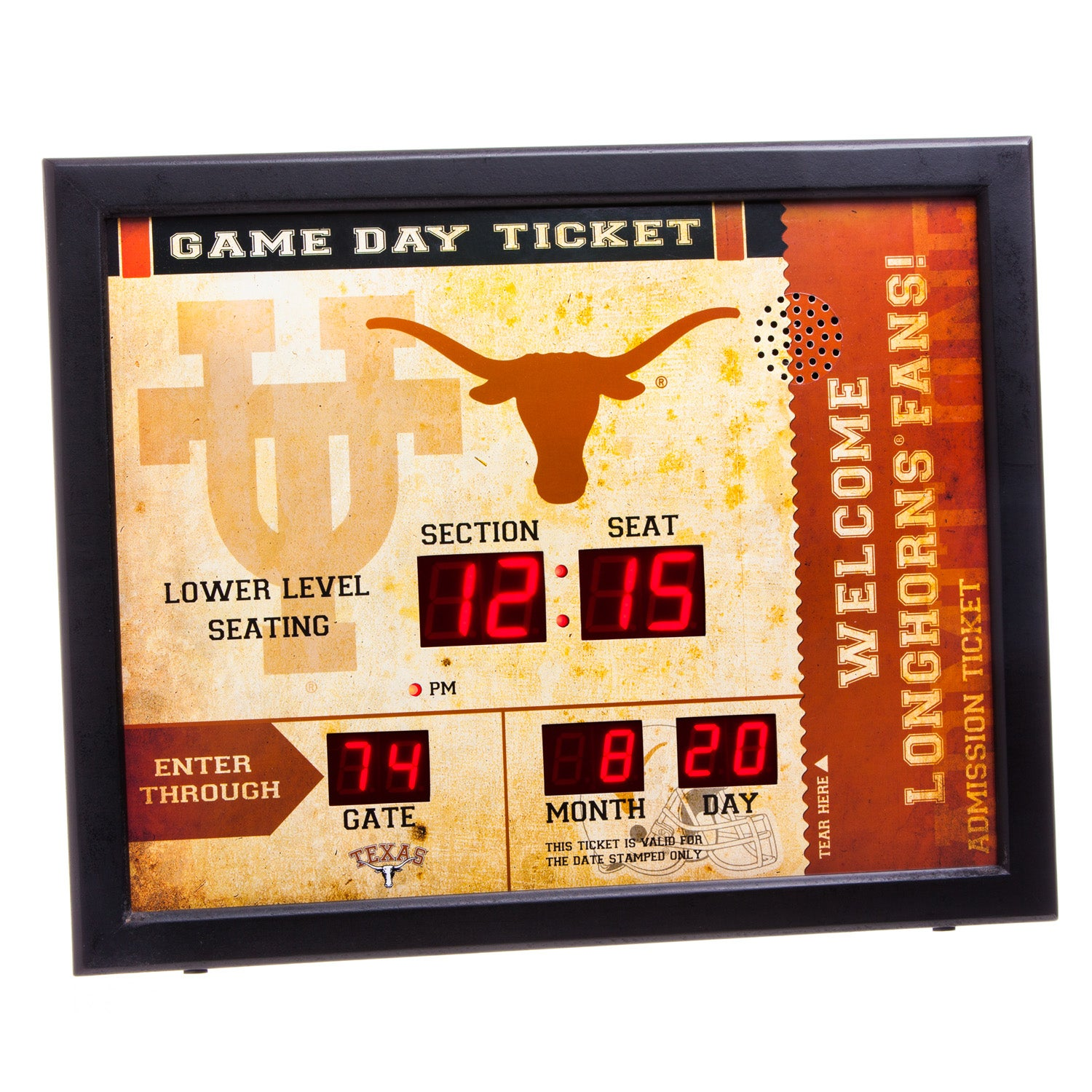 Texas Longhorns Bluetooth Scoreboard Wall Clock