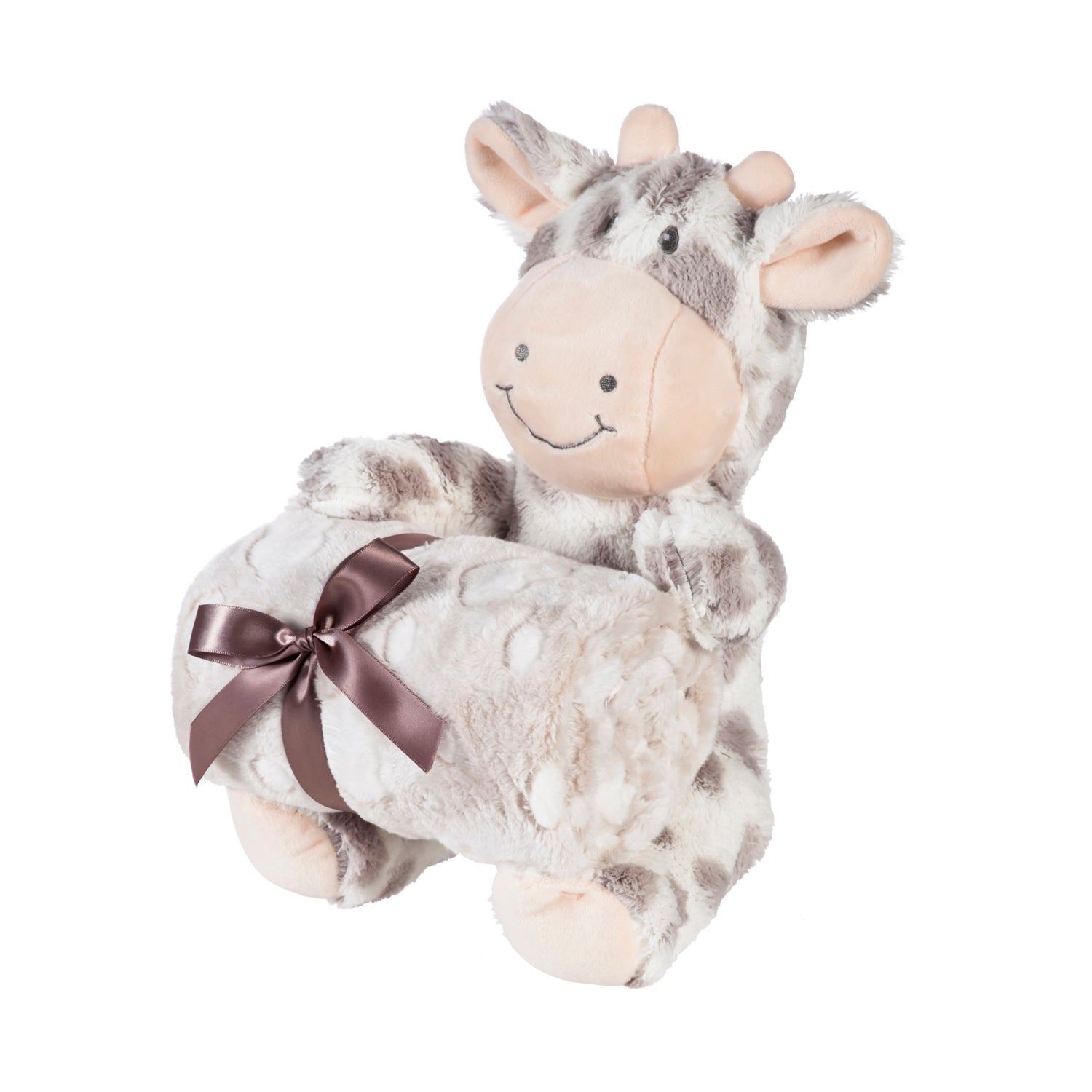 "Cuddly Giraffe 10"" Stuffed Animal w/ Blanket Gift Set, Gray"