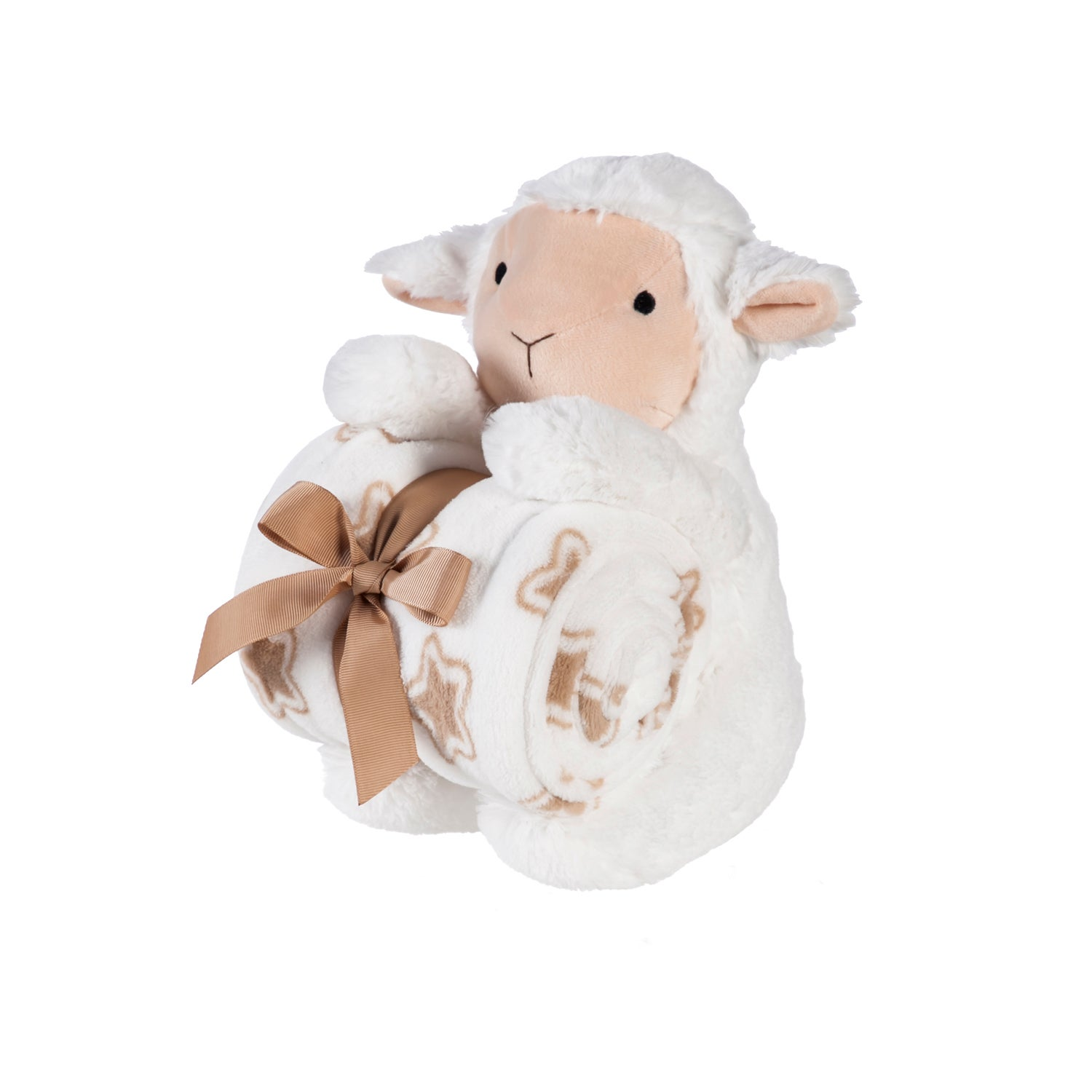 Cuddly Lamb Stuffed Animal with Blanket Gift Set