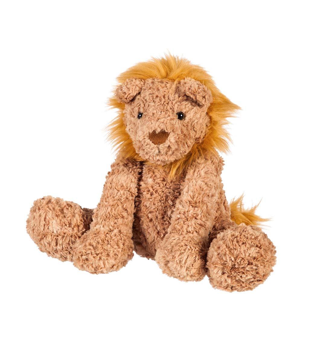 """12"""" Little Warrior Lion Plush, Sitting"""