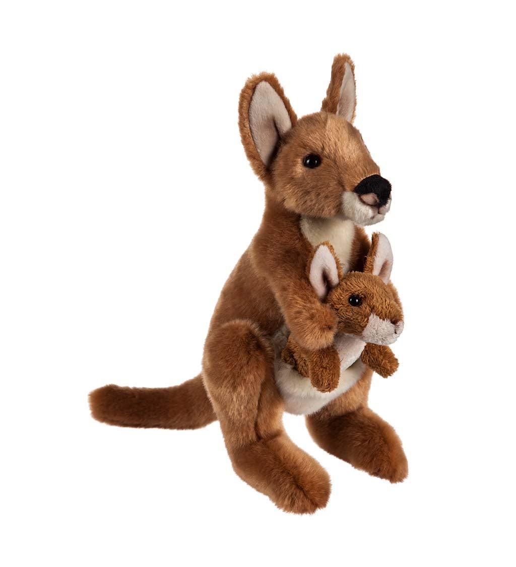 Kangaroo Mom and Baby Stuffed Animal Set