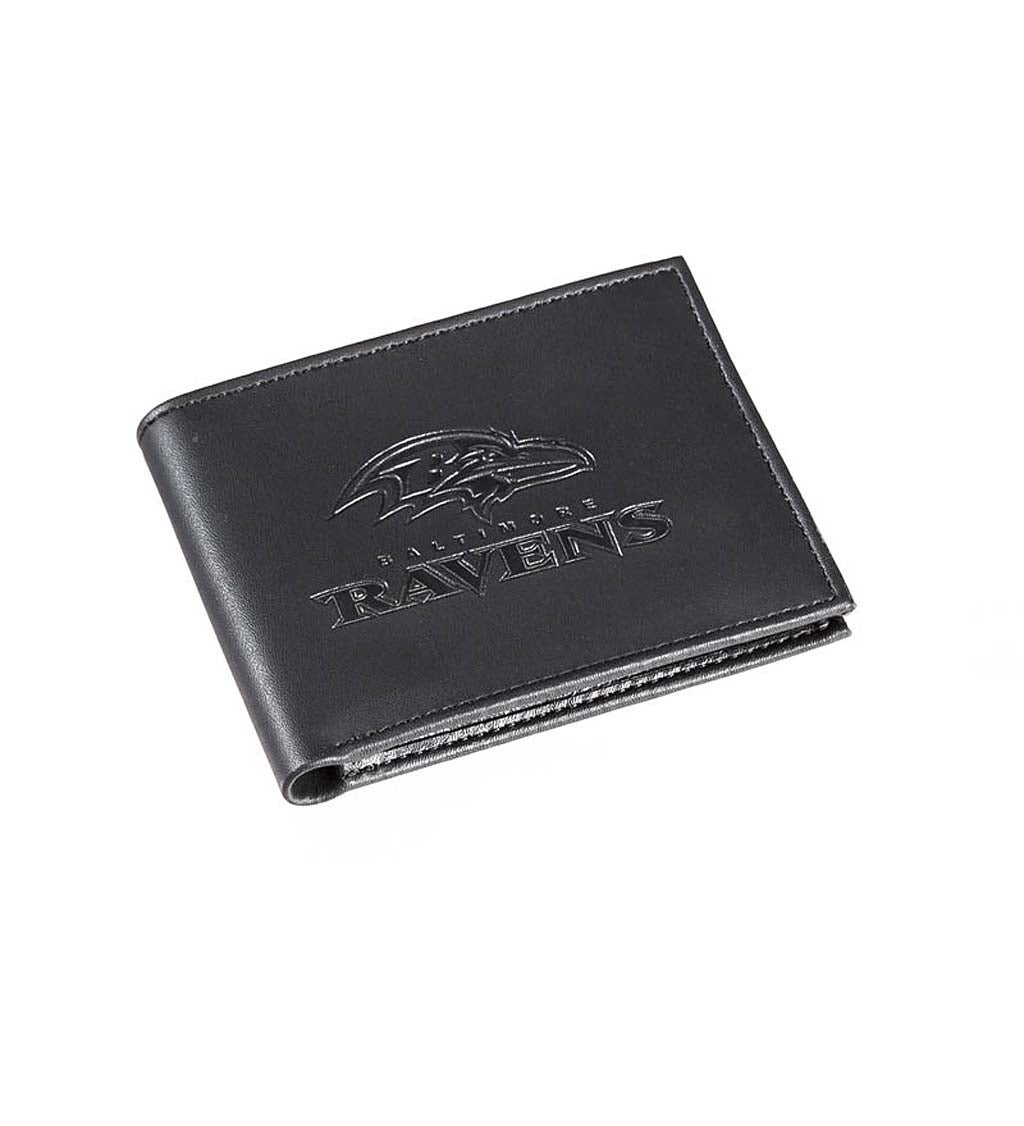 Baltimore Ravens Bi Fold Leather Wallet