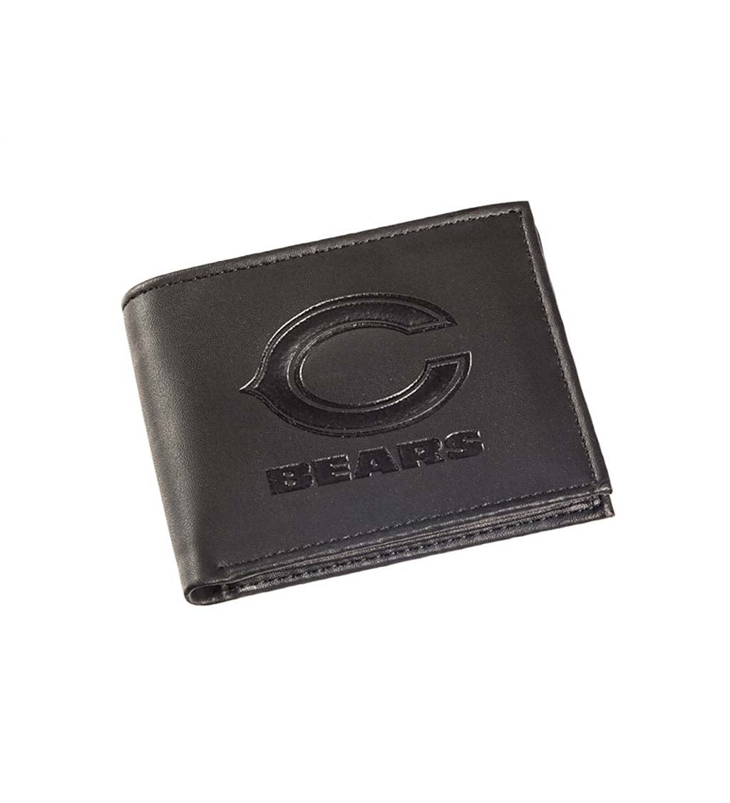 Chicago Bears Bi Fold Leather Wallet
