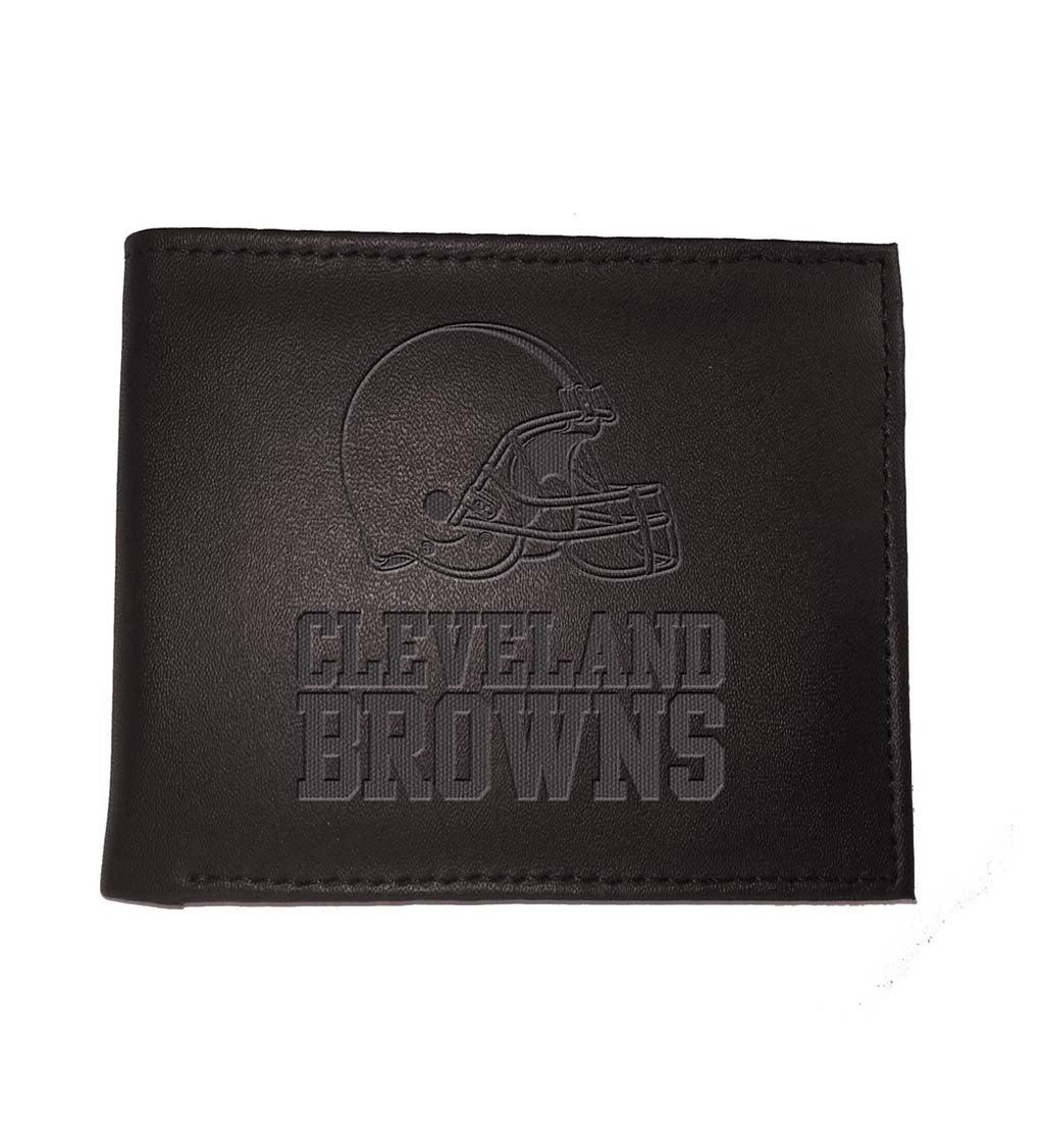Cleveland Browns Bi Fold Leather Wallet