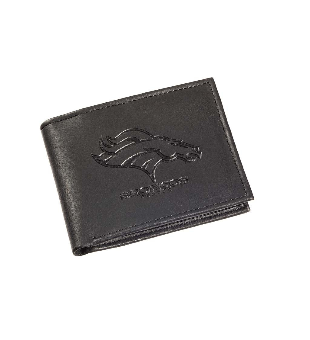 Denver Broncos Bi Fold Leather Wallet