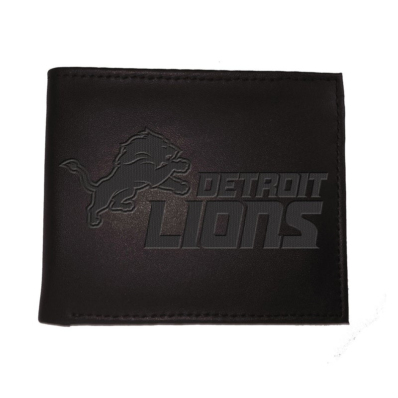 Detroit Lions Bi Fold Leather Wallet