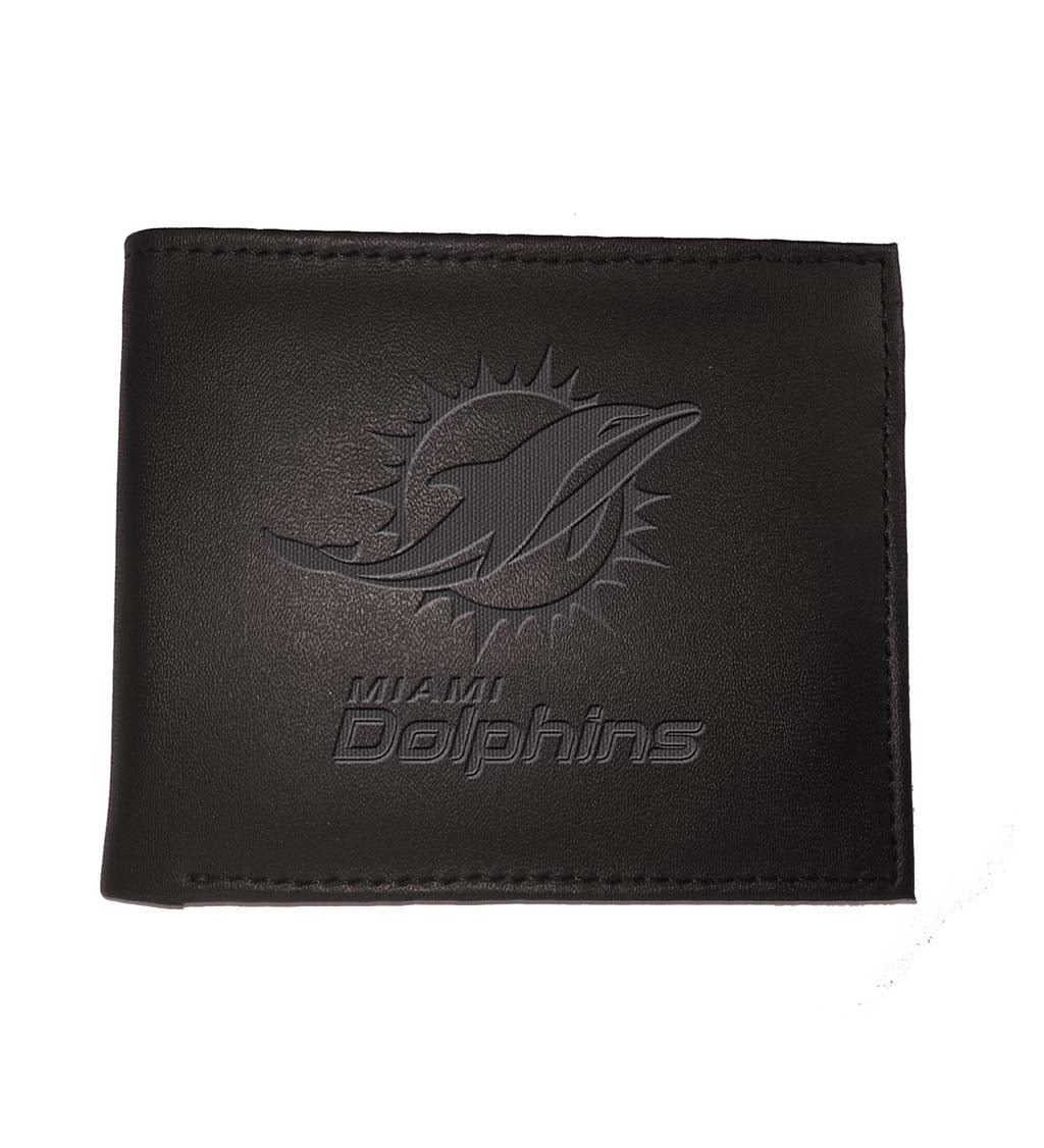 Miami Dolphins Bi Fold Leather Wallet