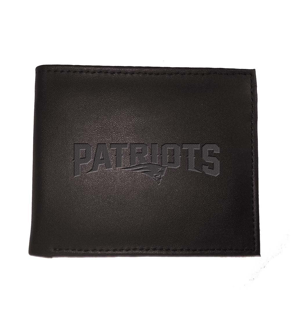 New England Patriots Bi Fold Leather Wallet