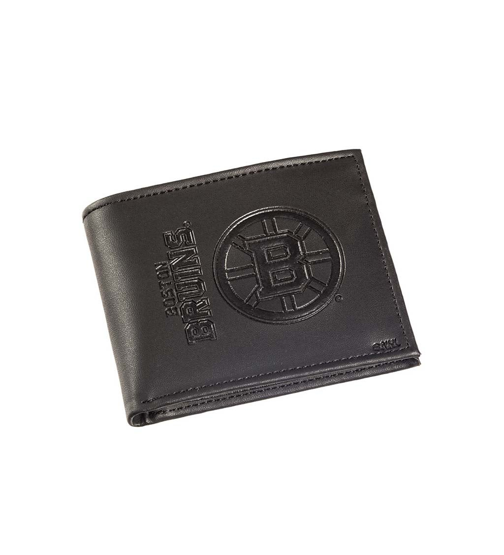 Boston Bruins Bi Fold Leather Wallet