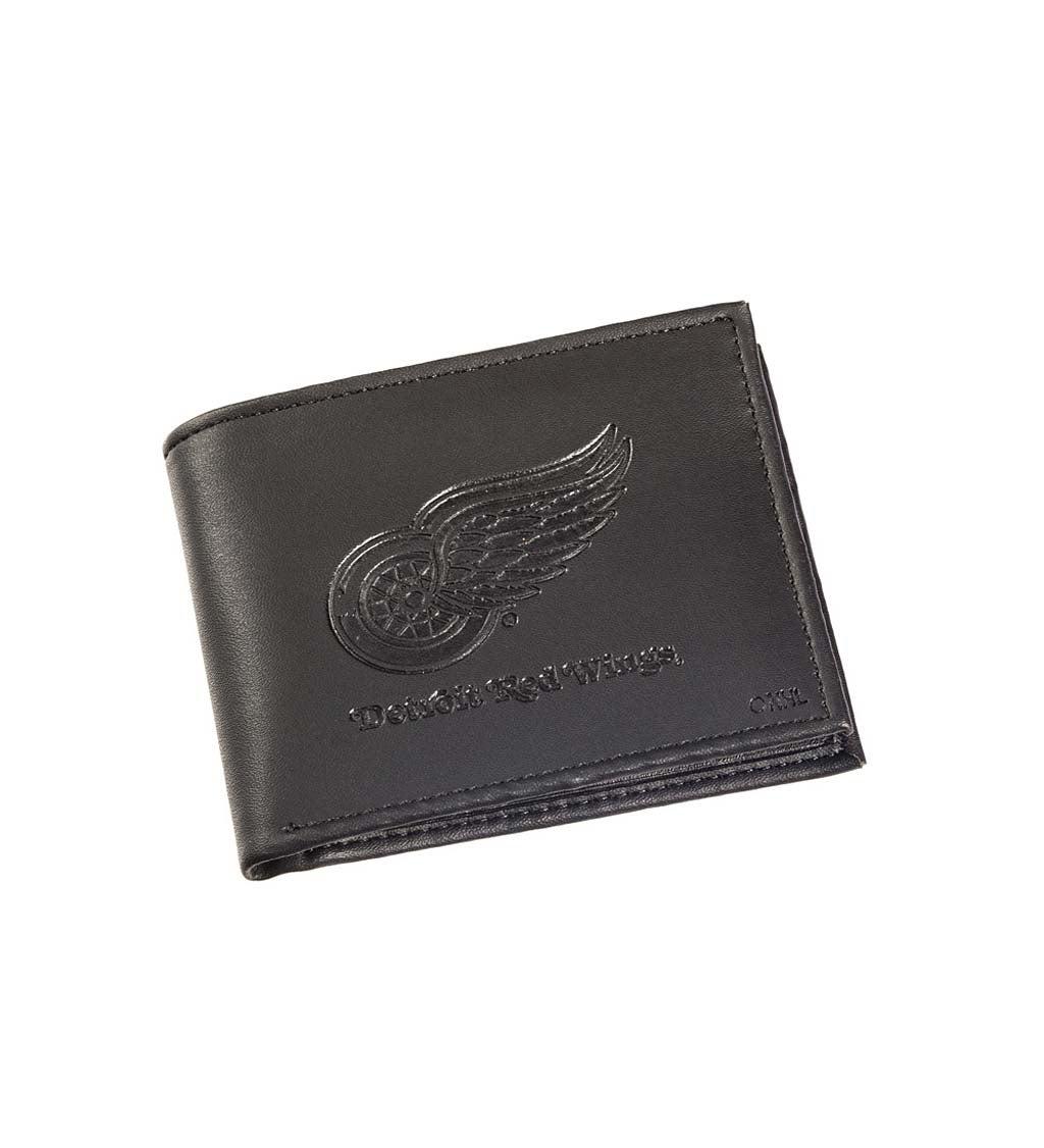 Detroit Red Wings Bi Fold Leather Wallet