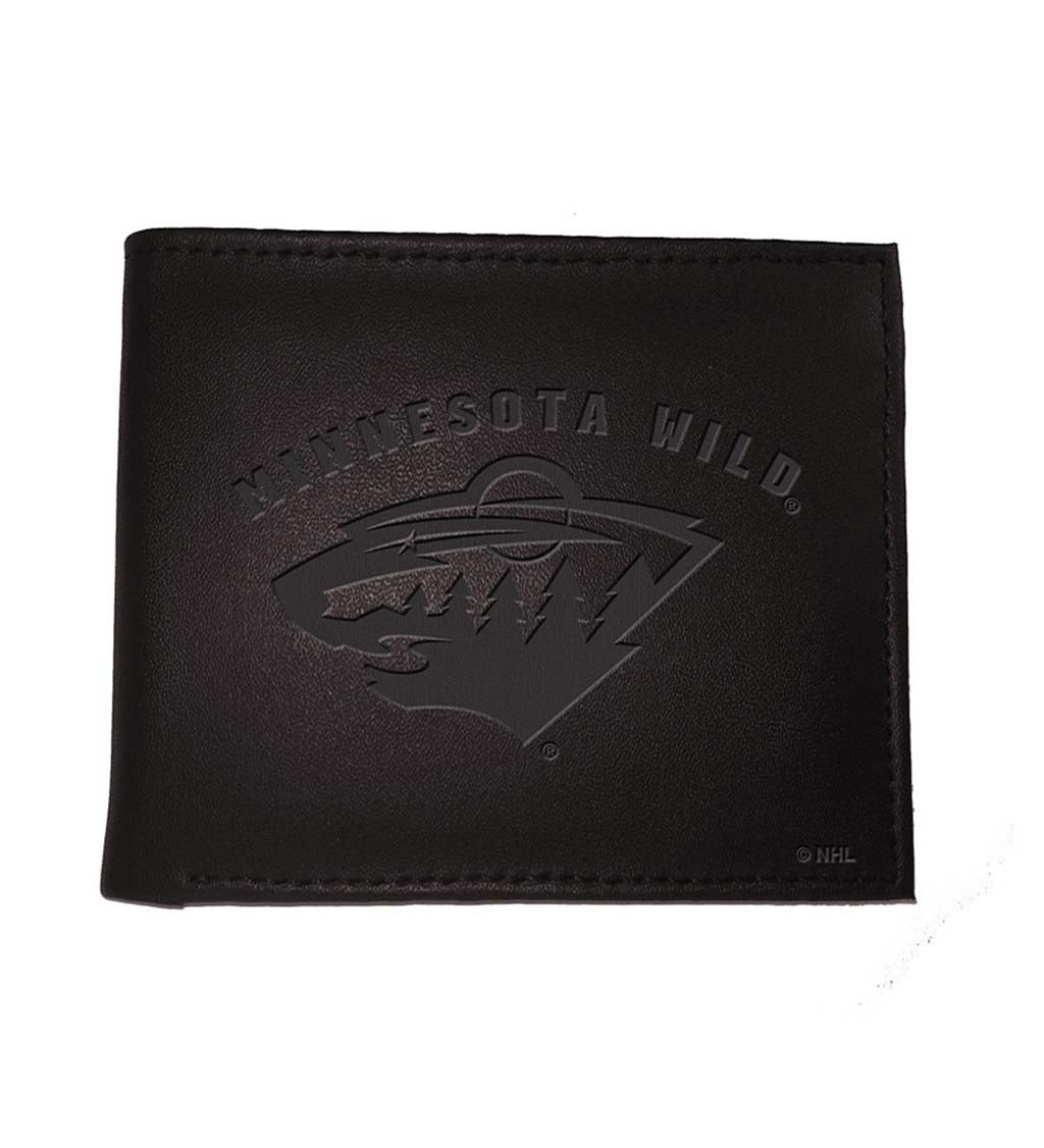 Minnesota Wild Bi Fold Leather Wallet