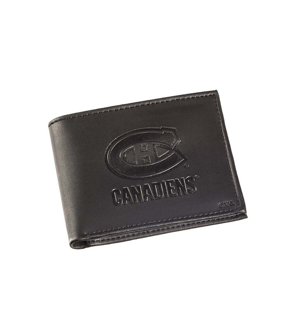 Montreal Canadiens Bi Fold Leather Wallet
