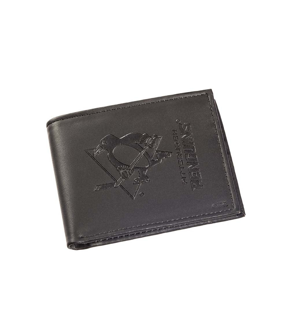 Leather Pittsburgh Penguins Bi-fold Wallet