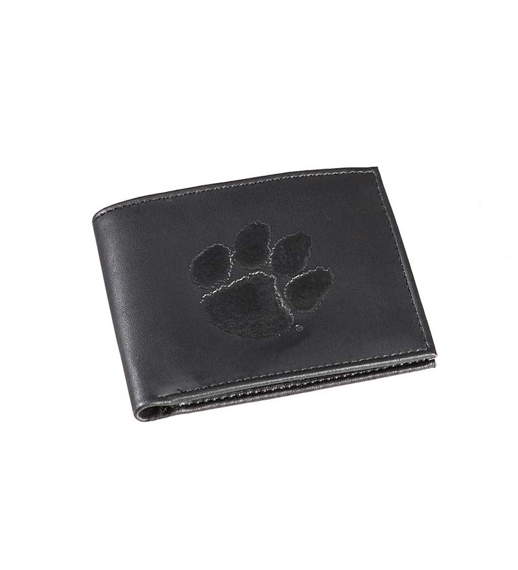 Clemson University Bi Fold Leather Wallet