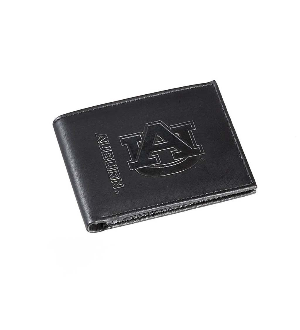 Auburn University Bi Fold Leather Wallet