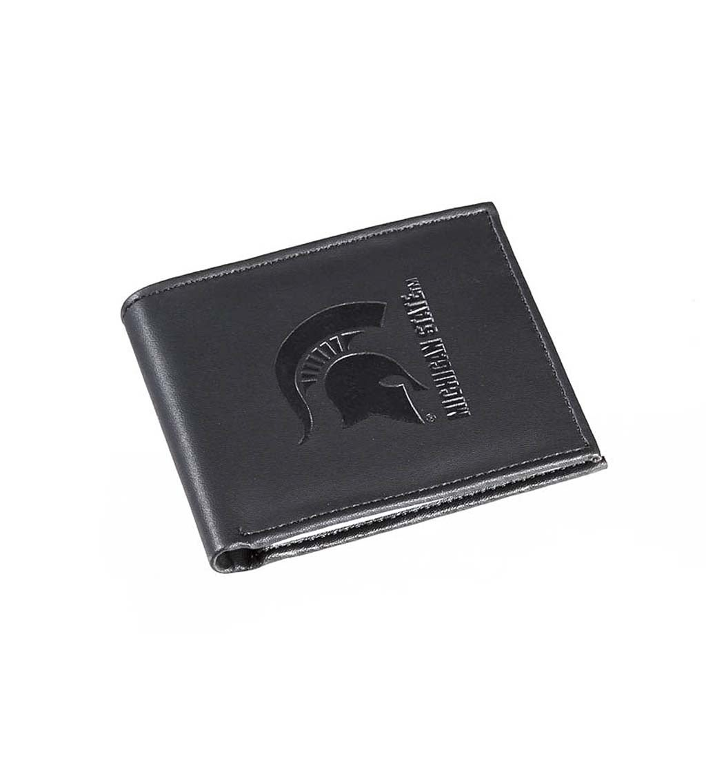 Michigan State University Bi Fold Leather Wallet