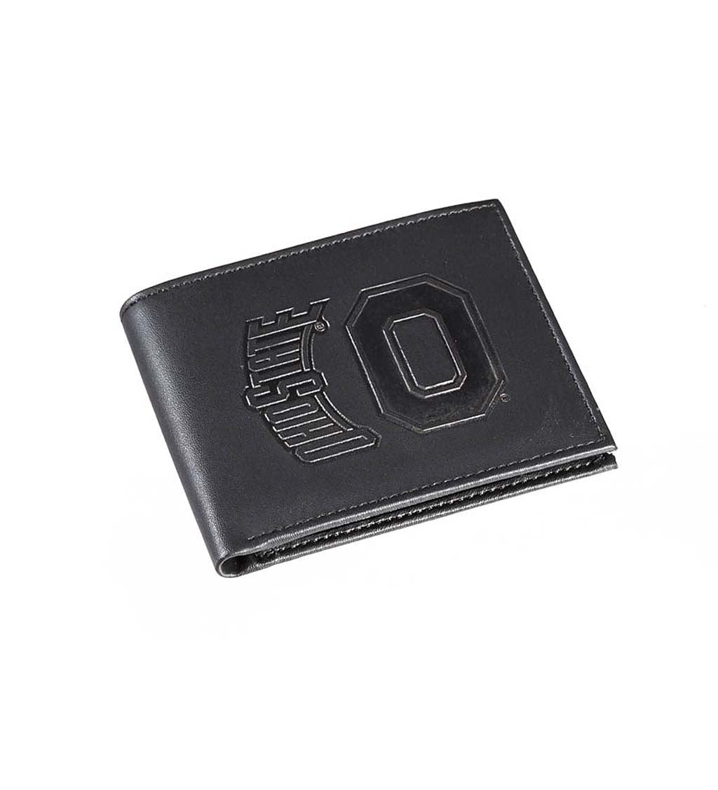 Ohio State University Bi Fold Leather Wallet