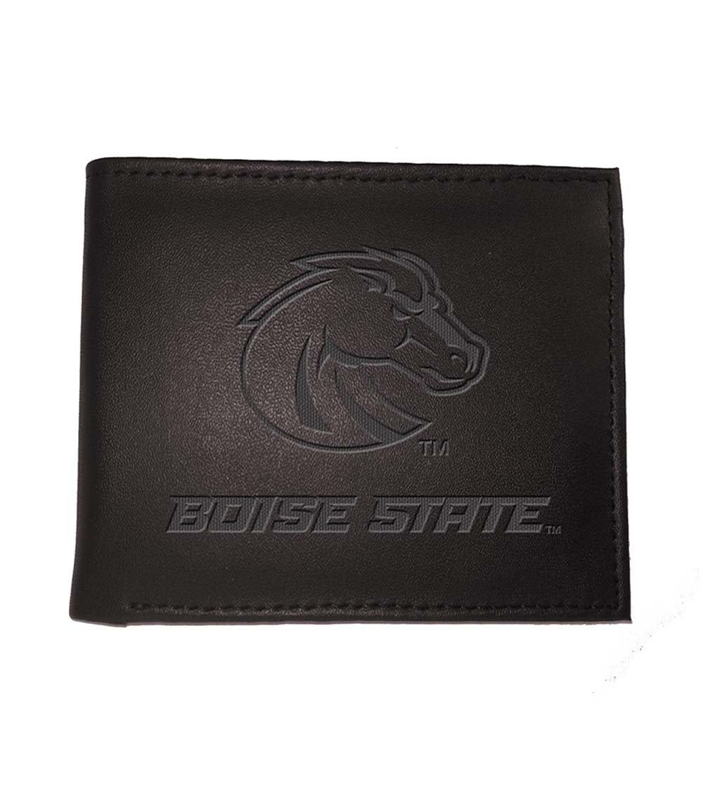 Boise State University Bi Fold Leather Wallet