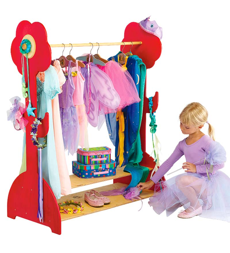 Childs Wooden Clothing Rack