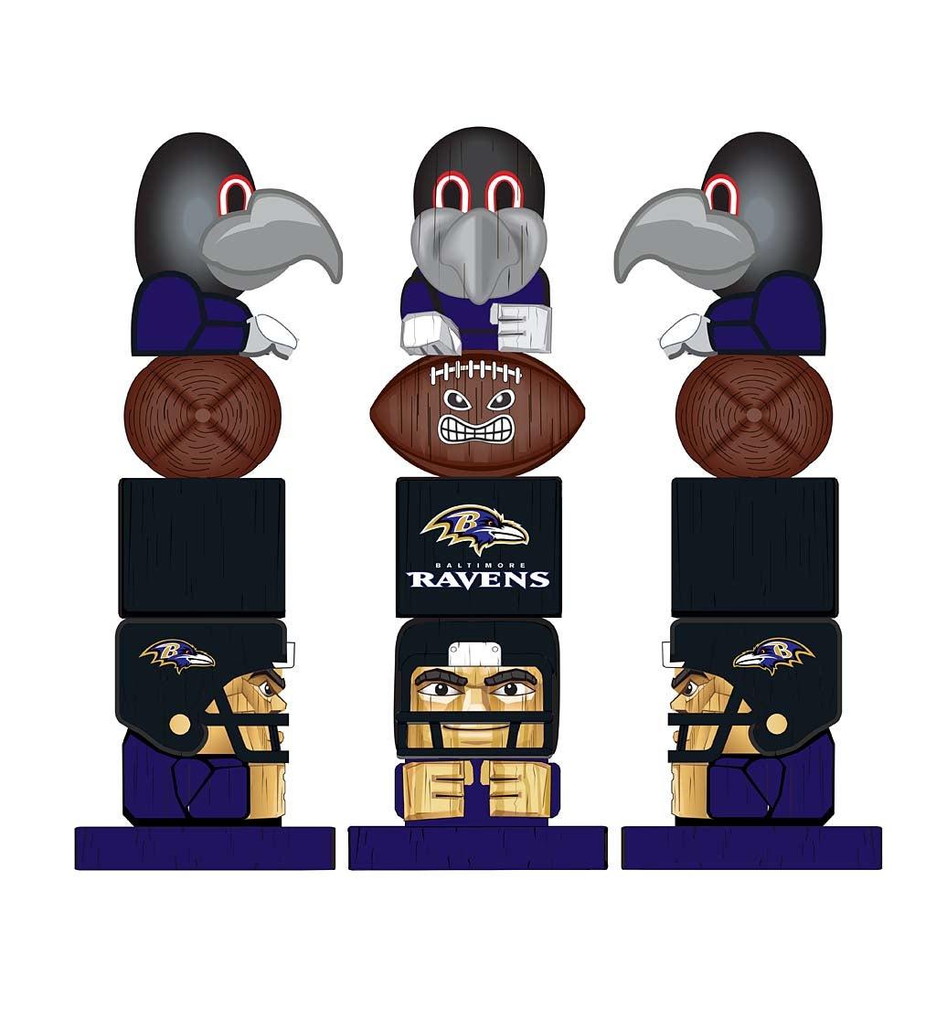 Baltimore Ravens Tiki Team Totem Garden Statue