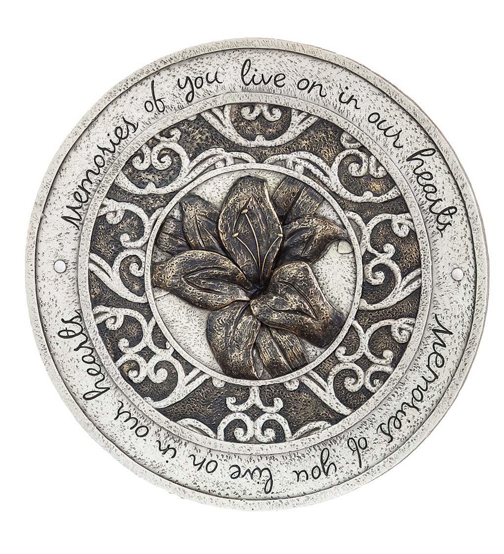 Memorial Lily Garden Stone