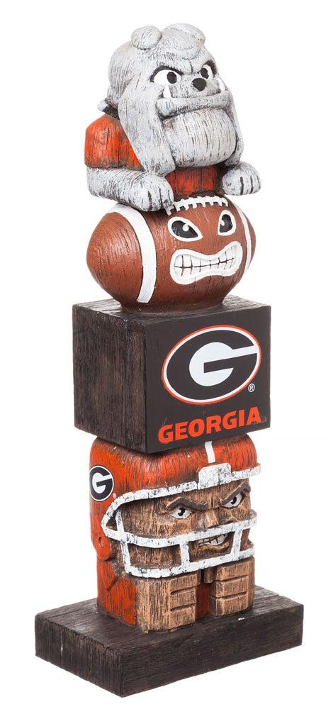 Georgia Bulldogs Tiki Team Totem Garden Statue