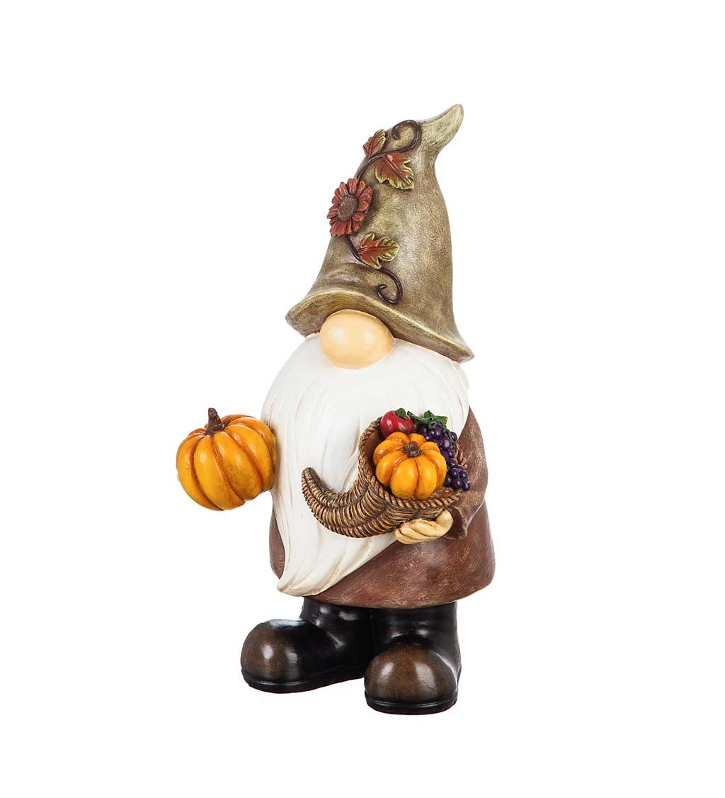 "16.5""H Harvest Gnome Garden Statue"