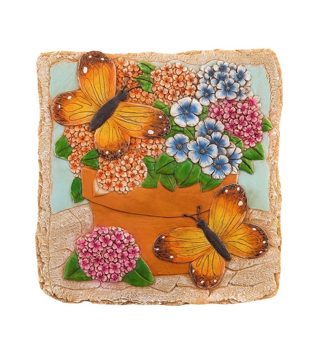 "10"" Garden Stone, Garden Monarch Butterflies"